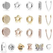 2019 New 925 Sterling Silver Simple Love Heart Round pendant Beads fit Original Pandora Reflexions Bracelet DIY Charms Jewelry цена