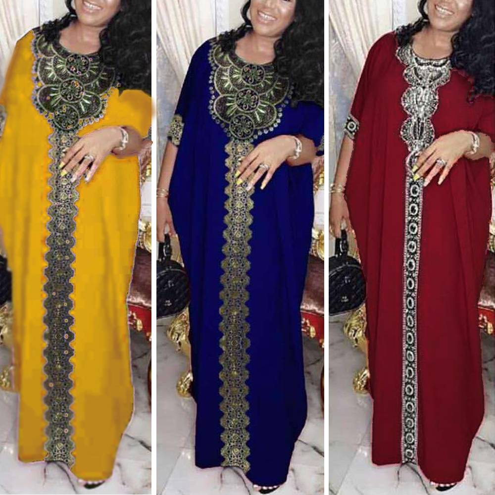 Dubai Abaya Muslim Dress Women Bangladesh Evening Dresses Moroccan Kaftan Turkish Pakistan Abaya Plus Size Islamic Clothing