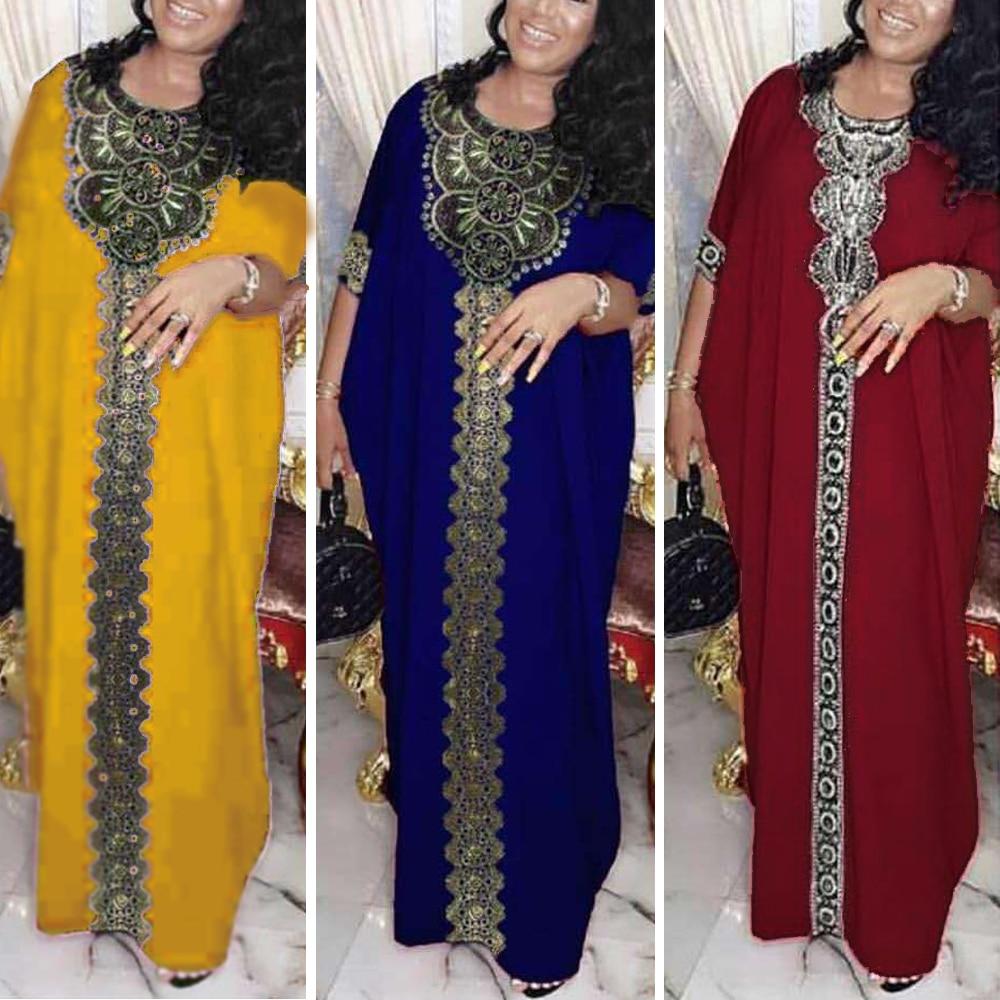 Dubai Abaya Muslim Dress Women Bangladesh Evening Dresses Moroccan Kaftan Turkish Pakistan Abaya Plus Size Islamic Clothing(China)