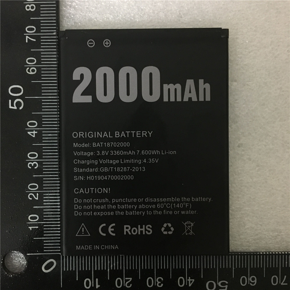 Original 2000mAh Battery for Doogee X50 High Quality mobile phone Replacement Batteries Battery image