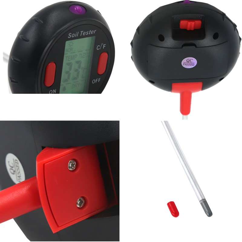 Image 5 - 5 in 1 PH Soil Tester Water Moisture Meter Humidity Thermometer  Photometer Water Meter Garden Plants Hydroponics Analyze 40%offPH  Meters