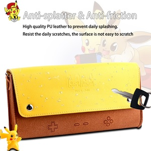 Image 3 - For Nintend Switch leather Case Soft Carry Travel Bag Console Accessories Portable Storage Shell Pikachu1 Mario1 Eevee1