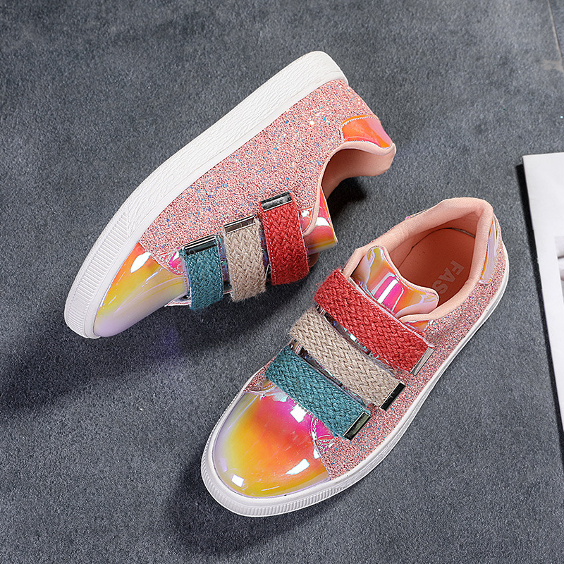 Summer Shiny Mirror Shoes Women Breathable Outdoor Casual Women Shoes Low Trainers Casual Sneakers Fashion Joker Shoes Zapatos