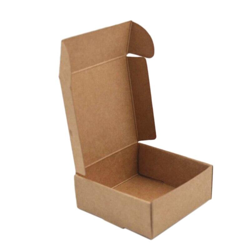 Ev ve Bahçe'ten Taşınabilir Sabun Yemekleri'de 100 x/çok küçük Kraft kağit kutu karton el yapımı sabun kutusu Kraft el işi kağıdı hediye kutusu ambalaj mücevher kutusu kahverengi title=