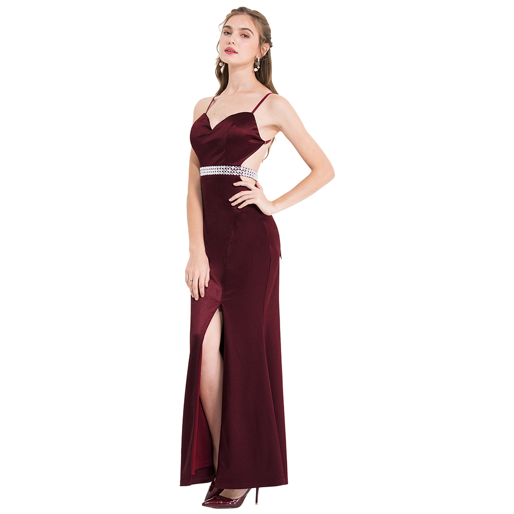 Angel-fashions Women's Spaghetti Strap Embroidery See Through Sequin Mermaid Prom Dresses 319 438