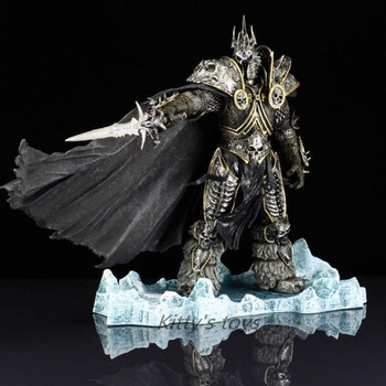world of warcraft wow resin action figure display toy doll illidan stormrage HOT WOW DC7 FALL OF THE LICH KING ARTHAS ACTION FIGURE Model Toy 21CM Free shipping KA0447