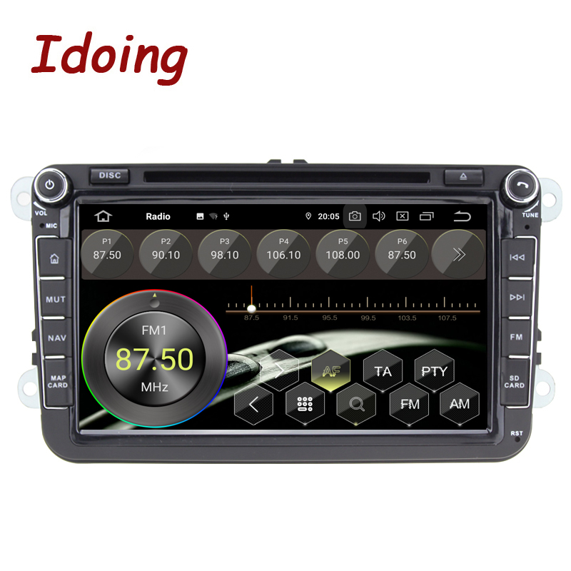 "Image 2 - Idoing 8"" 2 din Car Android 10 Radio Player Universal For VolkswagenSkoda Seat 4G+64G Octa Core IPS GPS Navigation MultimediaCar Multimedia Player   -"