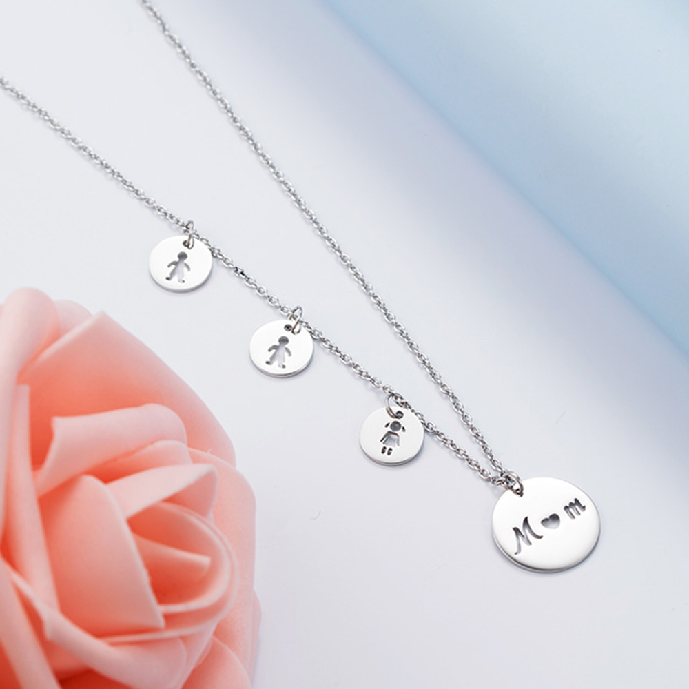 Gifts Mom Mother Necklace Daughter Son Birthday Gift For Mum Christmas Present Family Mothers Day Stainless Steel Chain Necklaces Aliexpress