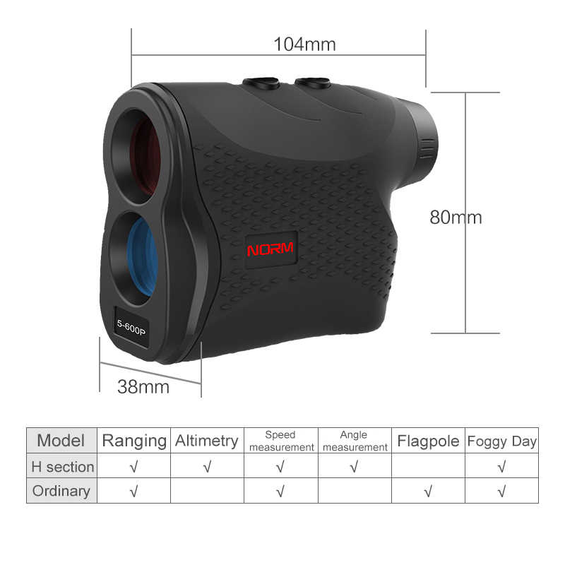 Mini telémetro láser 600M 900M 1200M 1500M medidor de distancia láser de alta precisión telémetro láser para caza deportiva de Golf