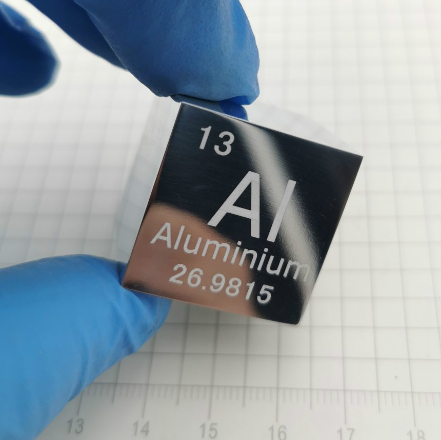 Aluminium Metal 1 Inch 25.4mm Density Cube 99.99% Pure for Element Collection