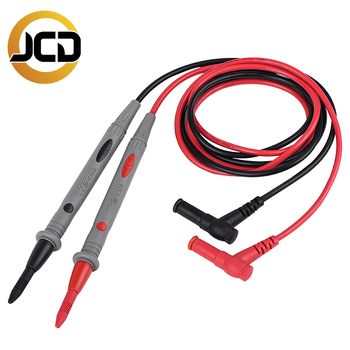 JCD Multimeter Probe Test Leads Pin for Digital Multimeter Needle Tip Multi Meter Tester Lead Probe Wire Pen Cable 20A 1000V zeast vc97 digital multimeter 3 3 4 capacitor frequency tester meter professional electric leads instruments lcd probe