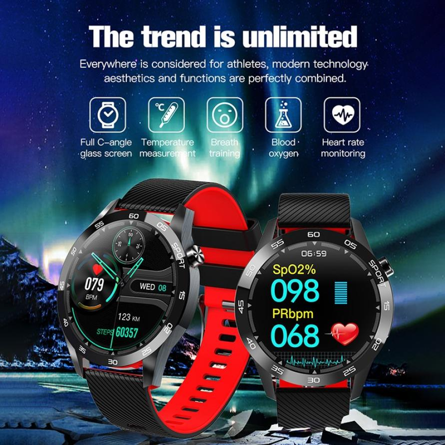 Body Temperature Smart Watch Heart Rate Monitor Health Tracker Weather Forecast Silicone Strap Pedometer Sport Smart Bracelet (7)