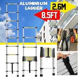 2.6 m/ 8.5ft échelle rétractable pliante en aluminium à chevrons échelle étape télescopique Extension télescopique échelles industrielles