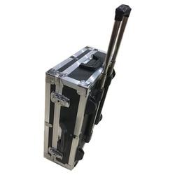 صندوق معدات من الألومنيوم 365*465*180 مللي متر صندوق أدوات صندوق معدات واقية للكاميرا مع بطانة من الفوم مسبقة القطع