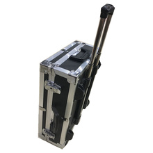 365*465*180mm Aluminum trolley case toolbox tool case Protective Camera Case equipment box with pre-cut foam lining waterproof injection mould plastic hard trolley case with foam inserts