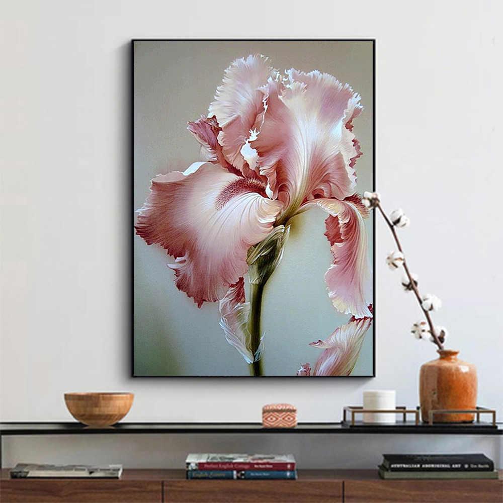 Iris tectorum fleur diamant peinture floral rond plein forage 5D Nouveaute bricolage mosaïque broderie point de croix décor à la maison cadeaux