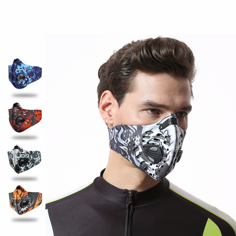 Activated Carbon Cycling Face Mask Anti-Pollution Bicycle Bike Sport Ski Hiking Training Mask Half Face Shield For Men Women