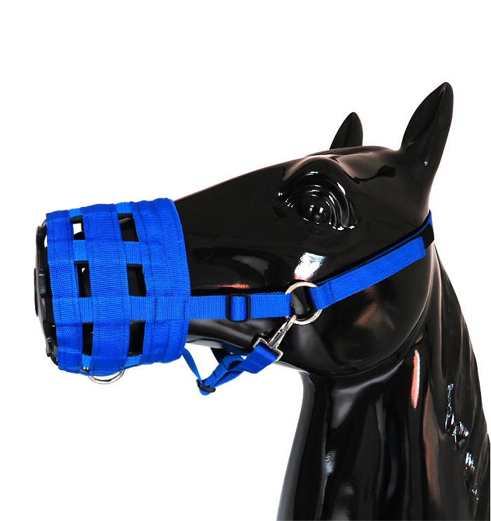 Comfort Horse Mouth Cover Horse Bridle Safety Grazing Muzzle Halter Anti-Bite Mouth Cover Mask Wearable