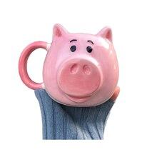 Coffee cup mug pig pig mug mug Pink pig Face Ceramic cup pig Head Coffee Capacity: 450ml baby pig pig walks