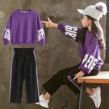 Ensemble coréen pour filles, t-shirt à manches longues et pantalon ample, ensemble de Sport pour adolescentes, 2 pièces, 5, 6, 8, 10, 11 et 12 ans