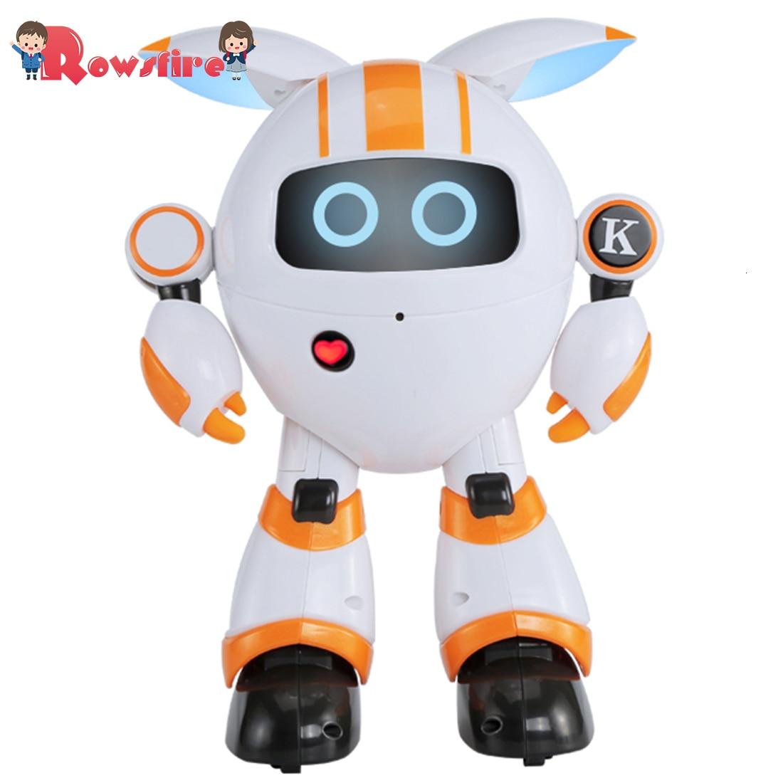 Rowsfire Smart Walking Robot RC Electronic Dancing Singing Robot Toy For Children - Orange/Blue