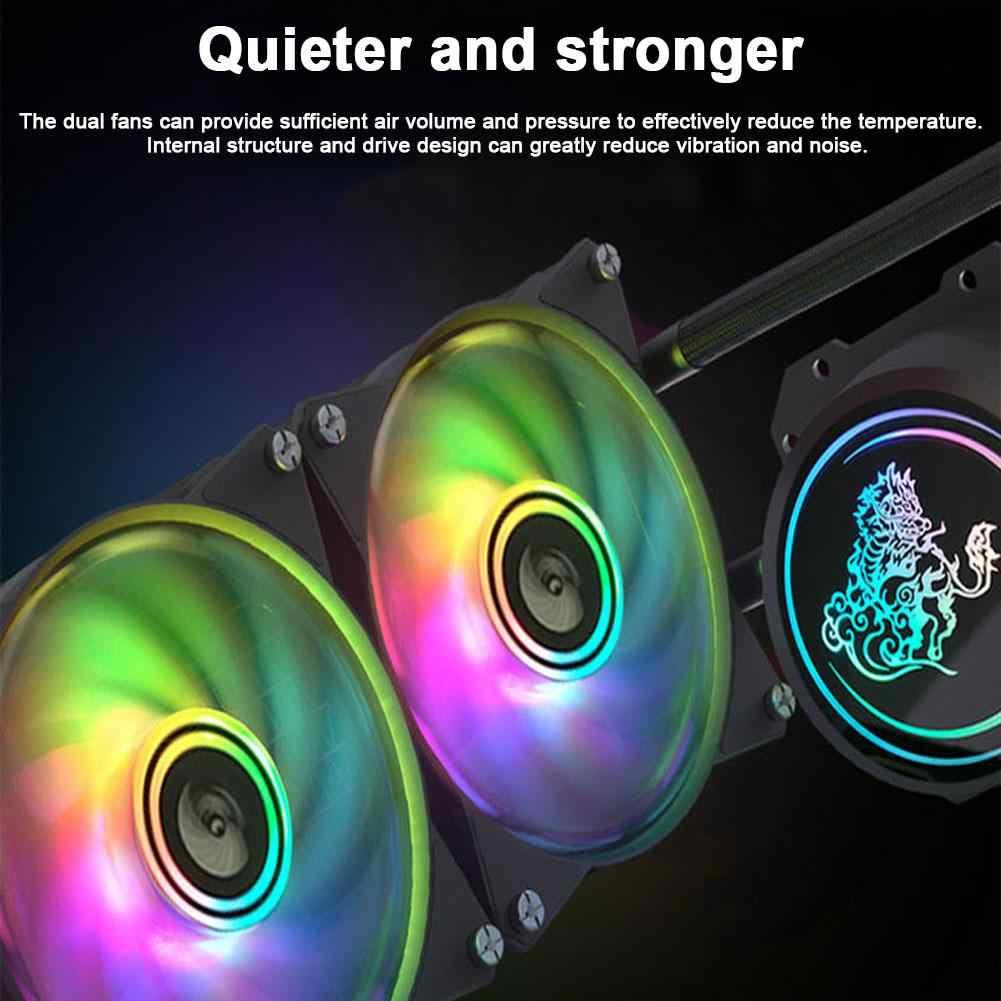 2020 nowy procesor ciecz chłodząca 240 chłodnica dwukomorowe wentylatory pompowe niezależnie sterowany zestaw wentylatora chłodzącego RGB z zamkniętą pętlą