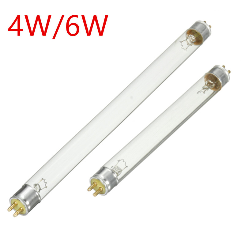 T5 4W/6W UV Disinfection Lamp Tube Ultraviolet Sterilization Lamp Light Blue Sterilizing Bulbs Kill Dust Mite Eliminator