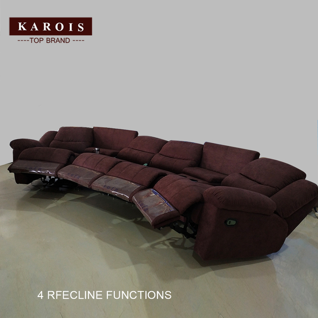 Karois R778 Home Theater Cheers Function Sofa Recliner Fabric Leather Sofa 4 Electric Recline Function 5