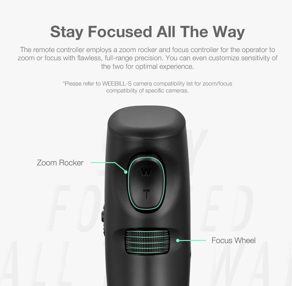 Zhiyun oficial sensor de movimento controlador remoto para weebill s