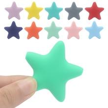 Прорезыватели для зубов для новорожденных BPA бесплатно Мягкая силиконовая звезда Прорезыватели аксессуары DIY детские игрушки
