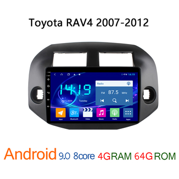 4G+64G autoradio for Toyota RAV4 2007 2012 android DVD multimedia GPS navigation player car radio coche audio auto stereo RAV 4 image