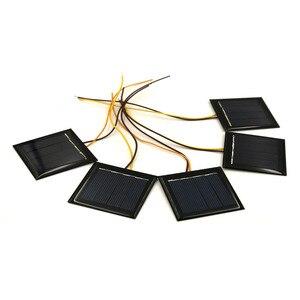 Image 4 - 5 pcs/Lot panneau solaire 2V 0.2W 100mA avec 15cm étendre le fil pour charger les téléphones portables pour bricolage charge Module polycristallin cellule solaire