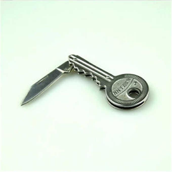 Mini lâmina dobra chave anel faca chaveiro descascador ferramenta acampamento ao ar livre gadget sobreviver kit caminhada portátil pacote de bolso