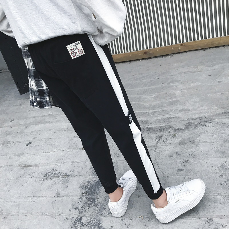 2018 Spring And Autumn New Style Men Casual Long Pants Men's Teenager Beam Leg Tight Type Pants Men's Athletic Pants Fashion