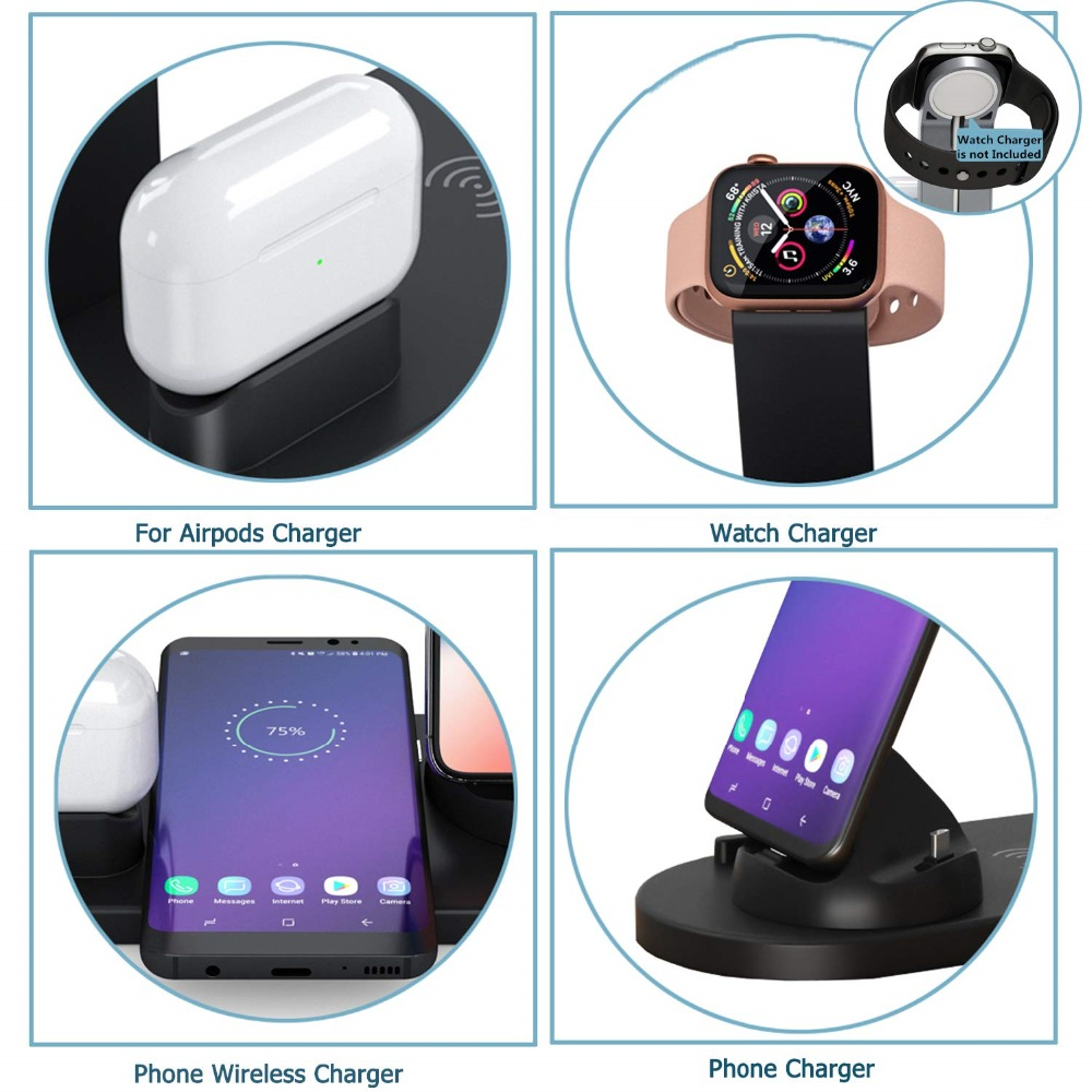 6 in 1 Smart Station Wireless Charging Dock