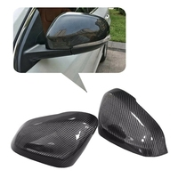 Car Carbon Fiber Style Side Rear View Mirror Cover Trim for Volvo S60 S60L S80L V40 V60 2012 2019