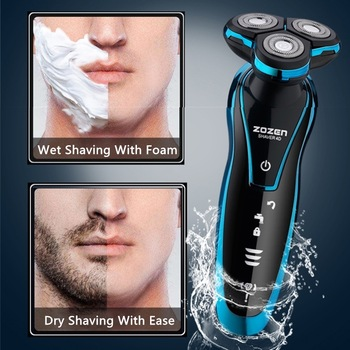 New Electric Shaver Rechargeable Electric Beard Trimmer Shaving Machine for Men Beard Razor Wet-Dry Dual Use Washable 1