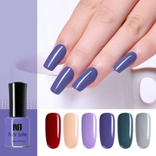 NEE JOLIE 36 Colors Pure Nail Color Polish Colorful Black White Red Fast Dry Long Lasting 8ml Art Varnish