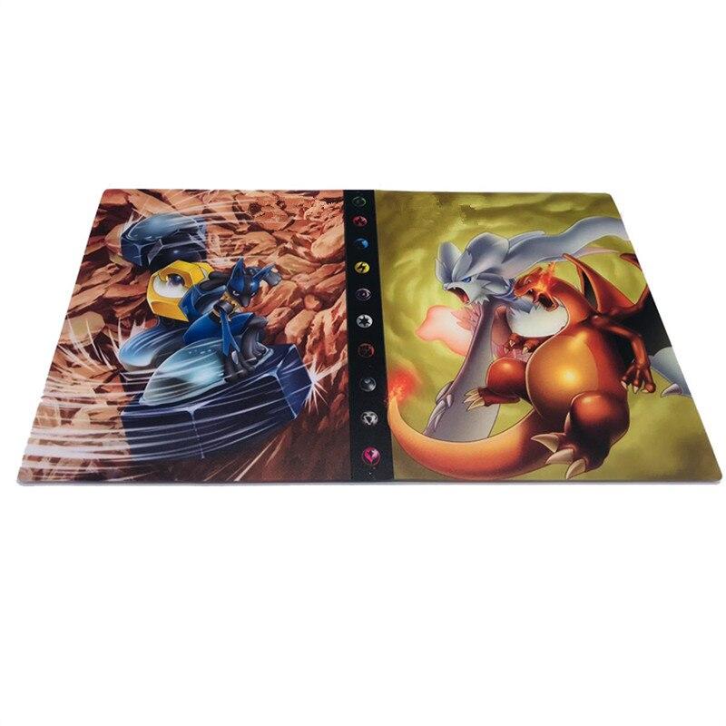 240 шт. держатель Альбом игрушки коллекции Pokemones карты Альбом Книга Топ загруженный список игрушки подарок для детей - Цвет: 18