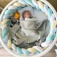 Детский бампер для новорожденных, 1 м/2 м, детская кровать, оплетка, узел, подушка, бампер для младенцев, Bebe защита для кроватки, бампер для дет...