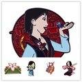 Новинка, брошь с эмалированным изображением персонажа фильма HOSENG Mulan, модные классические заколки на лацкан, аксессуары HS_232
