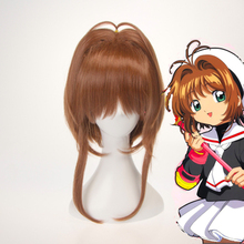 цена на Anime Cardcaptor Sakura Cosplay Wigs Sakura Kinomoto Cosplay Wig Synthetic Wig Hair Halloween Party Women Cosplay Wig