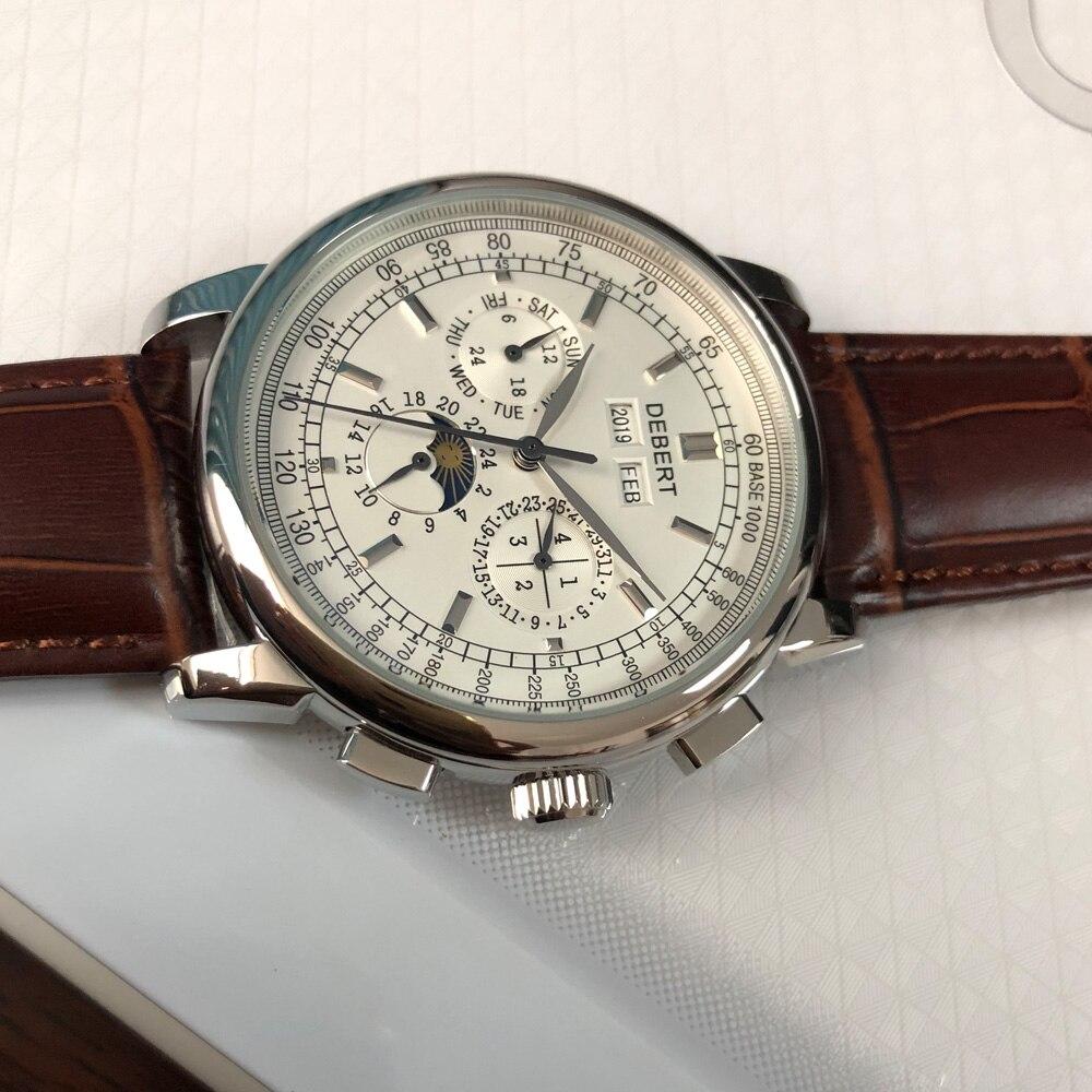 Marca superior 42mm debert mecânica relógios de