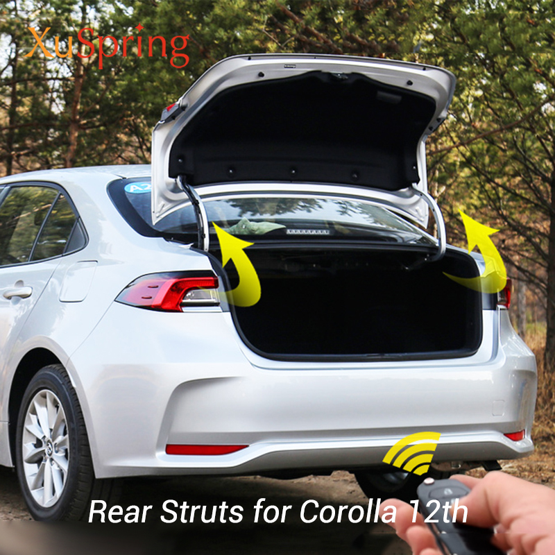 For Toyota Corolla 2018-2020 12th E210 Sedan Front Bonnet Hood Modify Gas Struts Lift Support Shock Damper Accessories Absorber