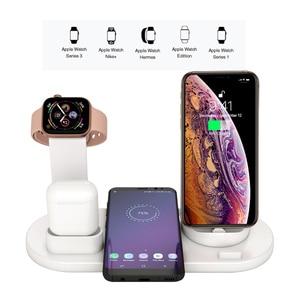 Image 4 - 3 で 1 ワイヤレス充電ドックのため iwatch 時計 5 4 2 と airpods iphone 11 プロ max x xr xs 8 プラスドッキングステーション充電器