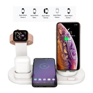 Image 4 - 3 in 1 Wireless Dock di Ricarica per iWatch di Apple Orologio 5 4 2 e Airpods iPhone 11 Pro Max X XR XS 8 Più Docking Stazione Del bacino del Caricatore