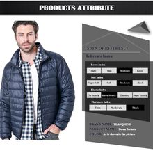 2020 Winter Men Cotton-Padded Clothes, Winter Coat, Stand-up Collar Zipper Striped Sewing Warm Slim Outerwear