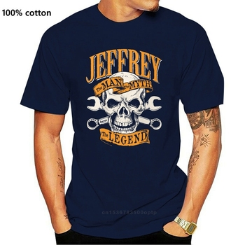 Men T Shirt Jeffrey the legend skull and wrenches Women t-shirt image