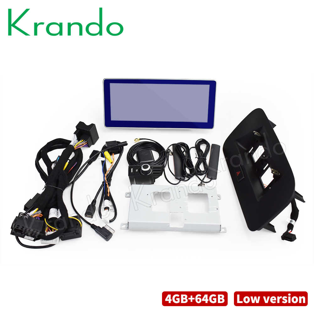 Krando Android 10.0 4G 64G Rom 10.25 ''Ips Zwart Scherm Auto Radio Audio Voor Audi Q5 2009-2020 Multimedia Player Gps Stereo Wifi