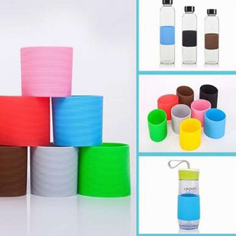 Silicone Coffee Mug Wraps Sleeves Ceramic Cup Sleeves Recyclable Heat Proof Glass Water Cup Sleeves Plumyl Cup Cover